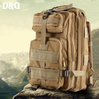 D&D PT-02 Outdoor Camouflage Military Mountaineering Backpack Hiking Travel Bag Shoulder 3P Tactical Backpack (khaki)