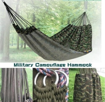Kisnow Military Camouflage HQ 200*150CM CampingHammocks(Color:Camouflage)(Green) - intl