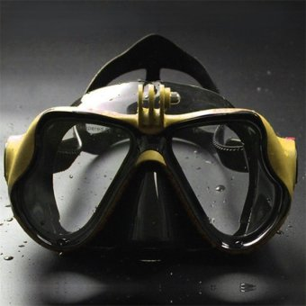 OH Underwater Camera Plain Diving Mask Scuba Snorkel Swimming Goggles for GoPro yellow