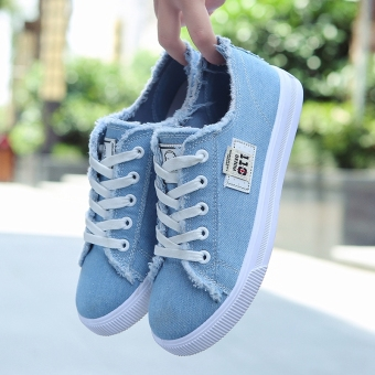 Couple Stylish student shoes to help low shoes (Light blue)