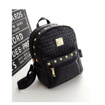 Isabel K034 Studded Korean Backpack (Black)
