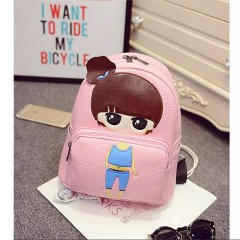 Isabel K047 Trendy Korean Girl Backpack (Pink)