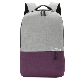 Jianyue contrasting color backpack (Purple)