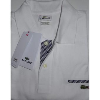 Lacoste Plaids Classic with Pocket Regular Fit Men's Polo Shirt(White)