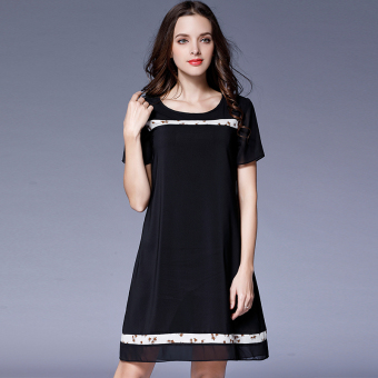 Loose mm2017 Plus-sized female New style slimming dress