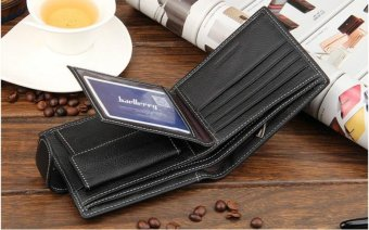 New 2017 Guaranteed 100% Genuine Leather Men Wallets Brand Short Leather Wallet Purses With Coin Pocket Card Holder For Men - intl
