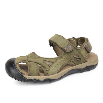 PINSV Men Aqua shoes Sandals Trekking Shoes (Green)