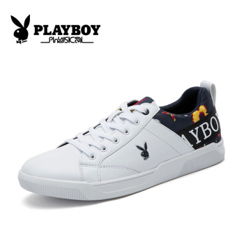 PLAYBOY Korean-style spring New style men casual shoes Shoes (White)