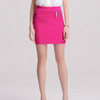 Shuilu professional Plus-sized one-step skirt (Rose color)