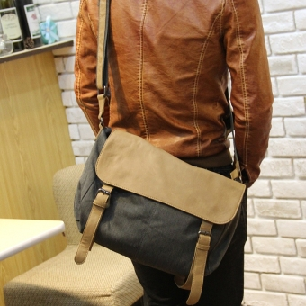 Tidog Male BAG canvas bag men handbags casual bag Shoulder Bag Messenger Bag - intl