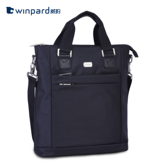Winpard business portable briefcase shoulder bag (Black)