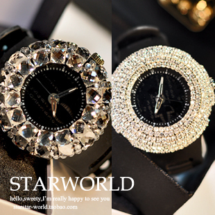 Bling powerful big dial full of crystals fashion watch
