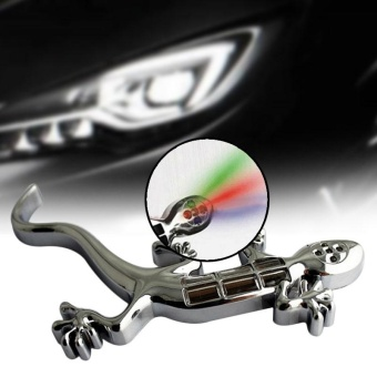 D 611 LED Solar Energy Gecko Graphic Fancy Car Stickers BrakeCaution Lamp - intl