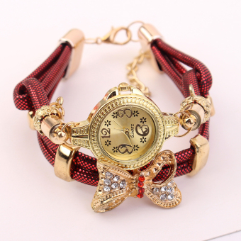 European and American Cooljie full of crystals wrap leather watch