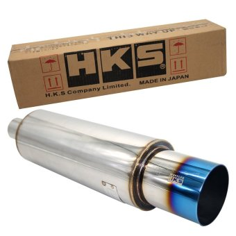 HKS Jasma Muffler with Burn Tip (Blue Tip) 2.0 Inlet 4.0 Outlet