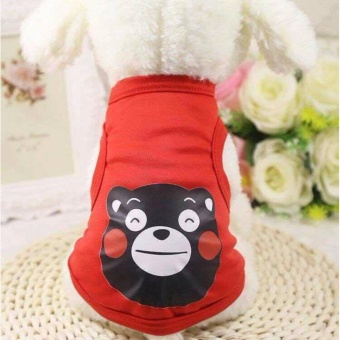 New Fashion Summer Pet Dog Shirts Clothes (RED)