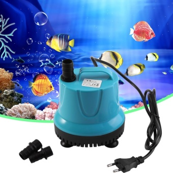 Plastic 2000L/H Fish Tank Aquarium Water Submersible Pump Blue WithEU Plug SM-25L - intl