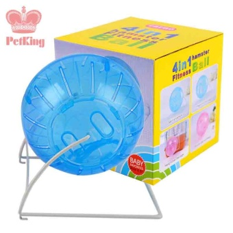 Quiet New cute Small pet animal hamster sports balls toys hamster running roller Exercise wheel rack hamster cage accessories - intl