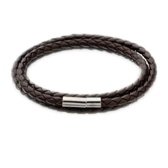 Retro Mens Wristband Bracelet Leather Cuff Bangle multilayer SurferWristband