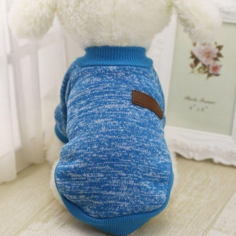 Victory New Pet Apparel The Dog Clothes Lovely Zero Purse HatCartoon Sweater Pet Shirts (Lake Blue-M) - intl