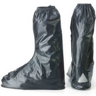 Waterproof Reuseable Motorcycle Rain Boots (Large)