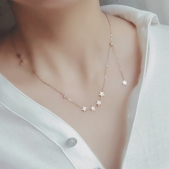 X009 New style long security and color Stars necklace choker