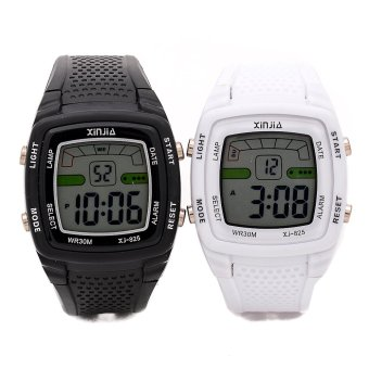 Xinjia Rubber Watch XJ-825 Double - Black and White