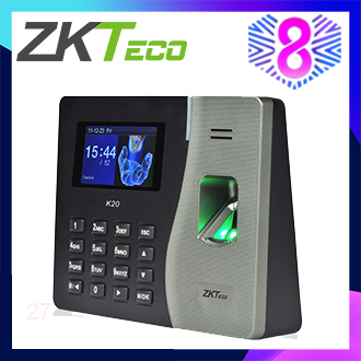ZKTeco Biometric Fingerprint Time Attendance Machine & Access Control Termina Reader Time Clock Recorder Employee Checking-in/out Reader K20