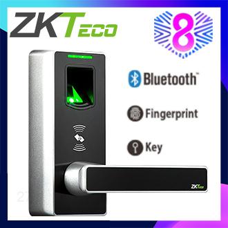 ZKTeco Smart Door Lock Biometric Fingerprint / Bluetooth / 5 RFID Card Door Lock ML10B (ID)
