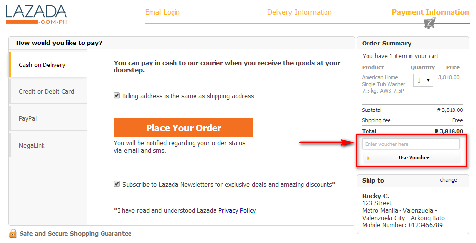 FAQ Frequently Asked Questions Of Lazada Philippines Lazadacomph - What is paypal invoice buy online pickup in store same day