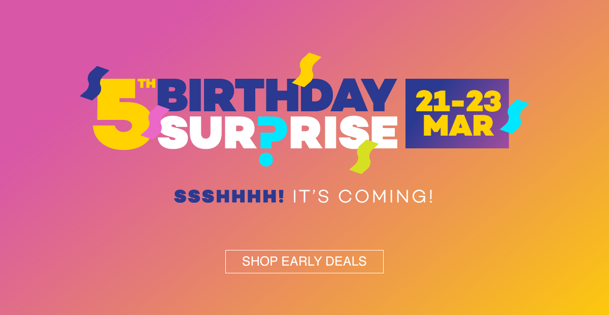 Lazada Birthday Sale - 2017 Anniversary Shopping Party
