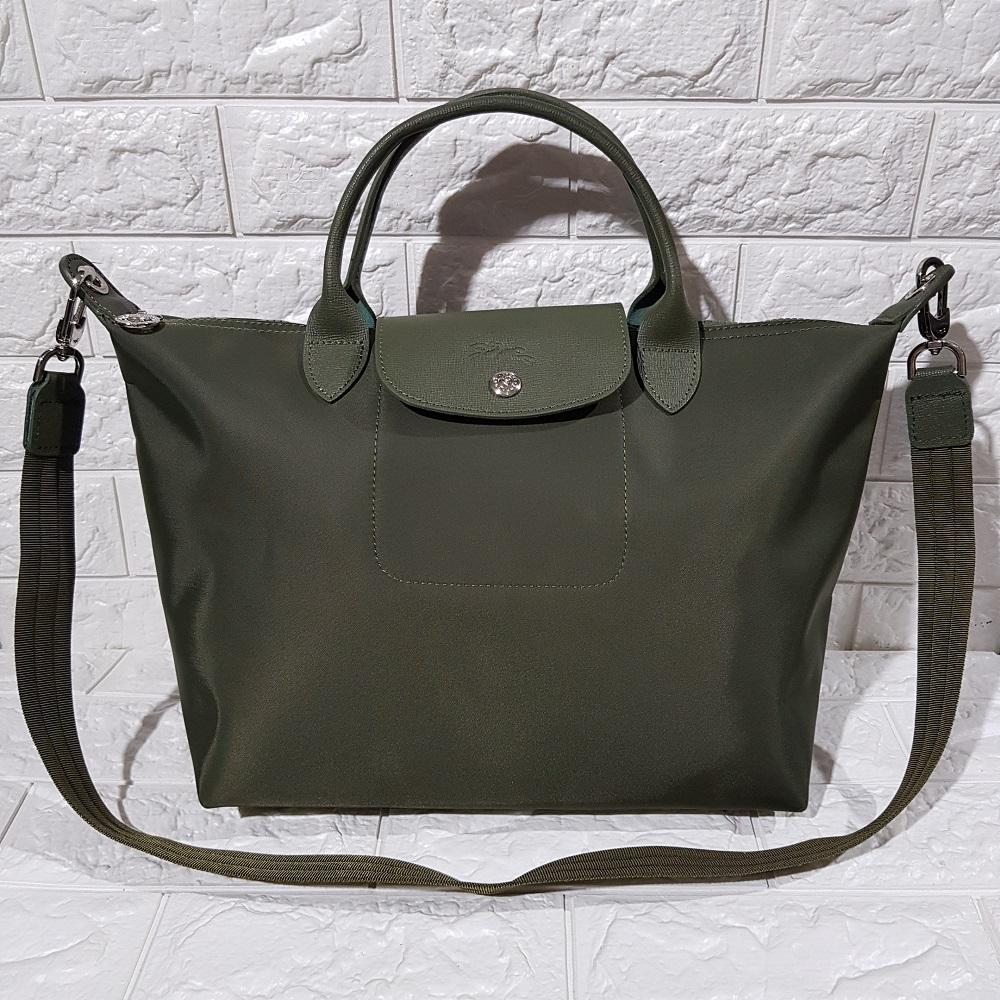 Longchamp Made In France Neo Medium Army Green Philippines Le Pliage Tote Khaki