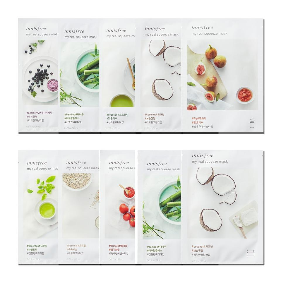 Discount Innisfree Its Real Squeeze Mask Cucumber 20ml Set Of 5 Strawberry My 10