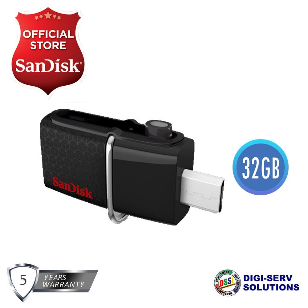 Discount Sandisk Ultra Sddd3 032g 32gb Otg Dual Usb Drive M3 0 Dualdrive Original Sddd2 30 Black