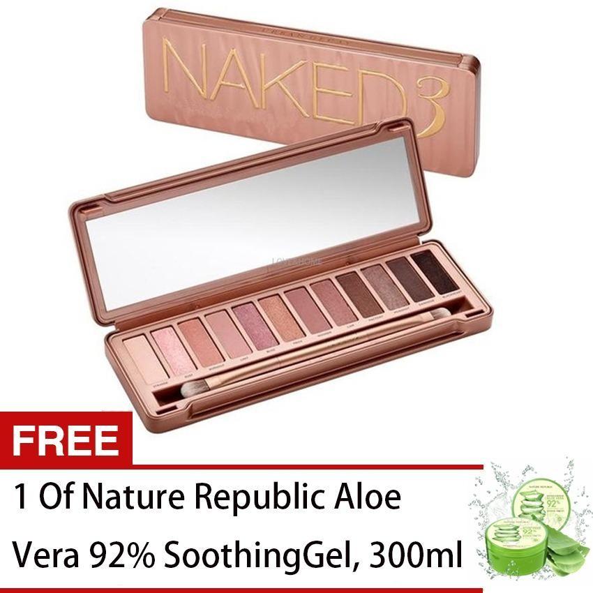 LOVE&HOME NK3 Eyeshadow Palette 12 Colors Make up FREE 1  Aloe Vera  Soothing Gel Philippines
