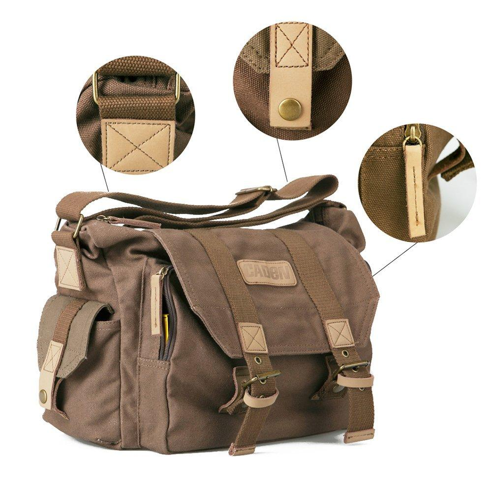 CADEN F1 DSLR Profesional Bahu Tas Kamera Kanvas Perjalanan Kamera Pelindung Tas untuk Sony Canon Nikon Olympus
