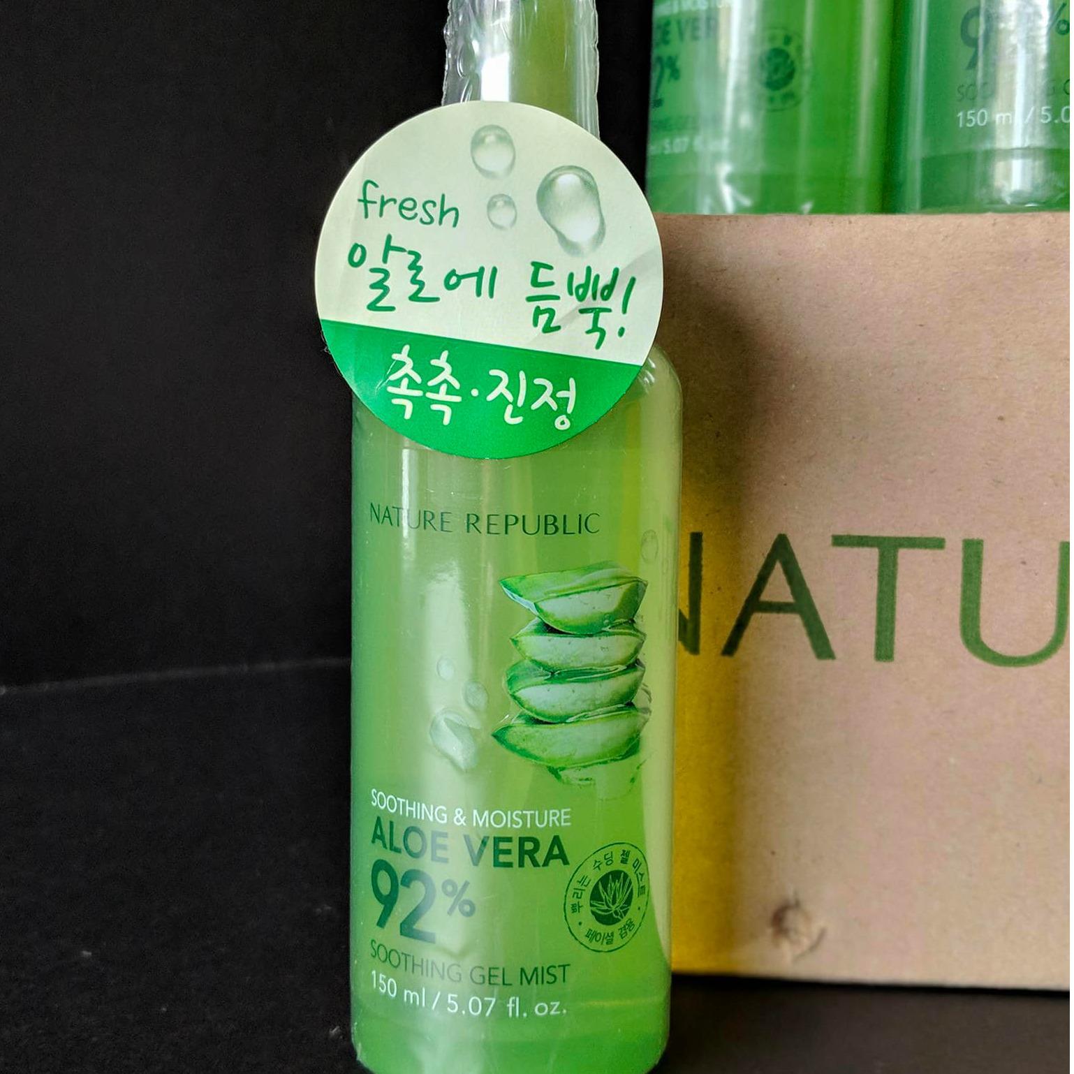 Original Korea Masker Lidah. Source · Nature Republic Aloe Vera Soothing Gel .