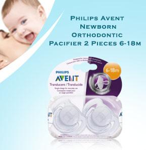 Baby-Z Philips Avent Newborn Orthodontic Pacifier 2 Pieces 6-18m.jpg