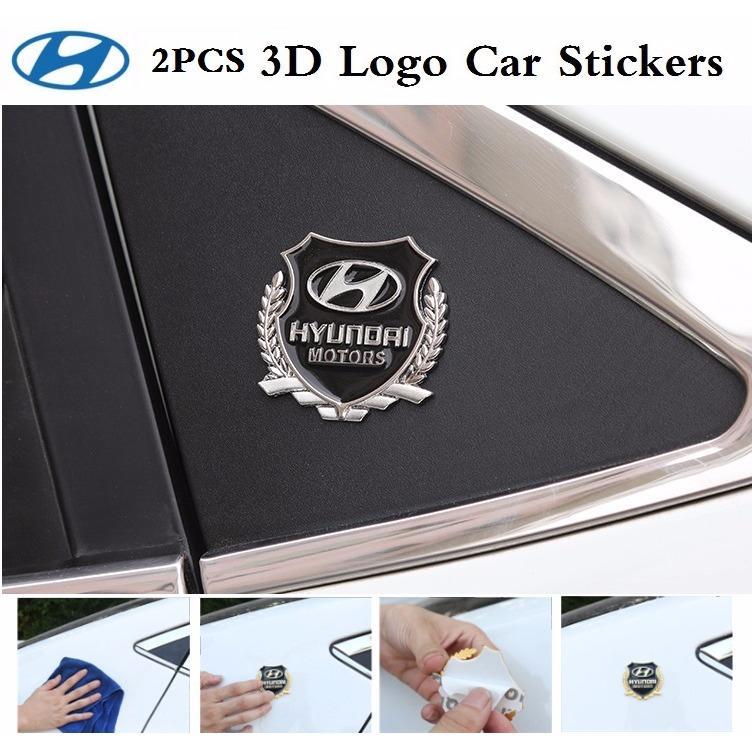 HYUNDAI 3D VIP MOTORS Wheat Car Logo Car Emblem Badge Decal Sticker