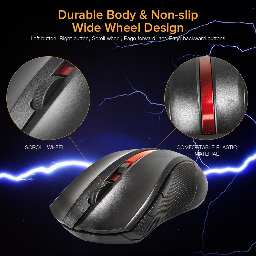 C2 Gaming High Precision Wireless Optical Mouse (Black)