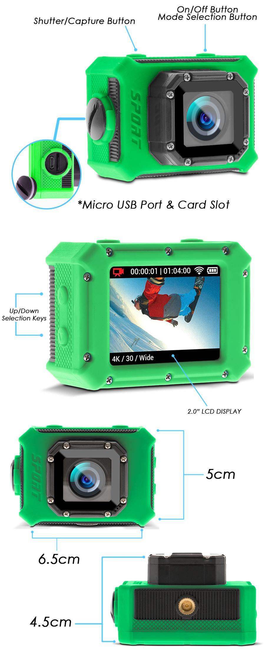 Lhr S9 Ultra Hd 4k Water Resistant Sports Action Camera Green Kogan Sport Sjcam Dv 12mp 1080p Ressistant Specifications Of