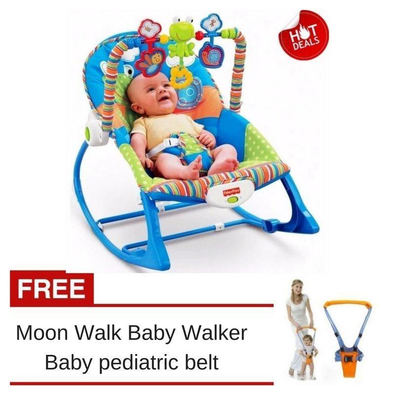Fisher Price Infant To Toddler Rocker Free Moon Walk Baby Walker Pediatric Belt