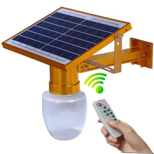JD-9908 10W Remote Controlled Solar Powered Courtyard Street Lamp Water Proof (Gold)