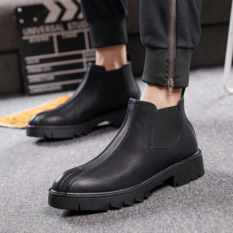 Winter Shoes men Dr Martens boots 181-1 Black fleece lining