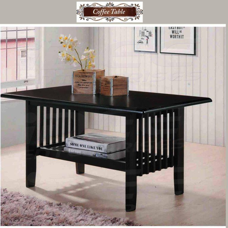 Tailee Furniture CT 202 Solid Wood Coffee Table (Cappuccino)