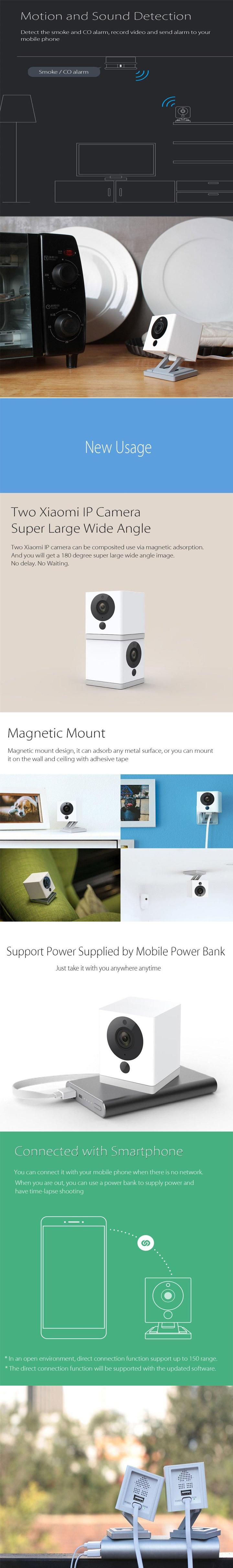 Orig Xiaomi Mi Xiao Fang Ip Cam Night Vision Wireless Wifi Network Kamera 1080p Cctv Specifications Of Security Hd Remote Monitor Home Camera White