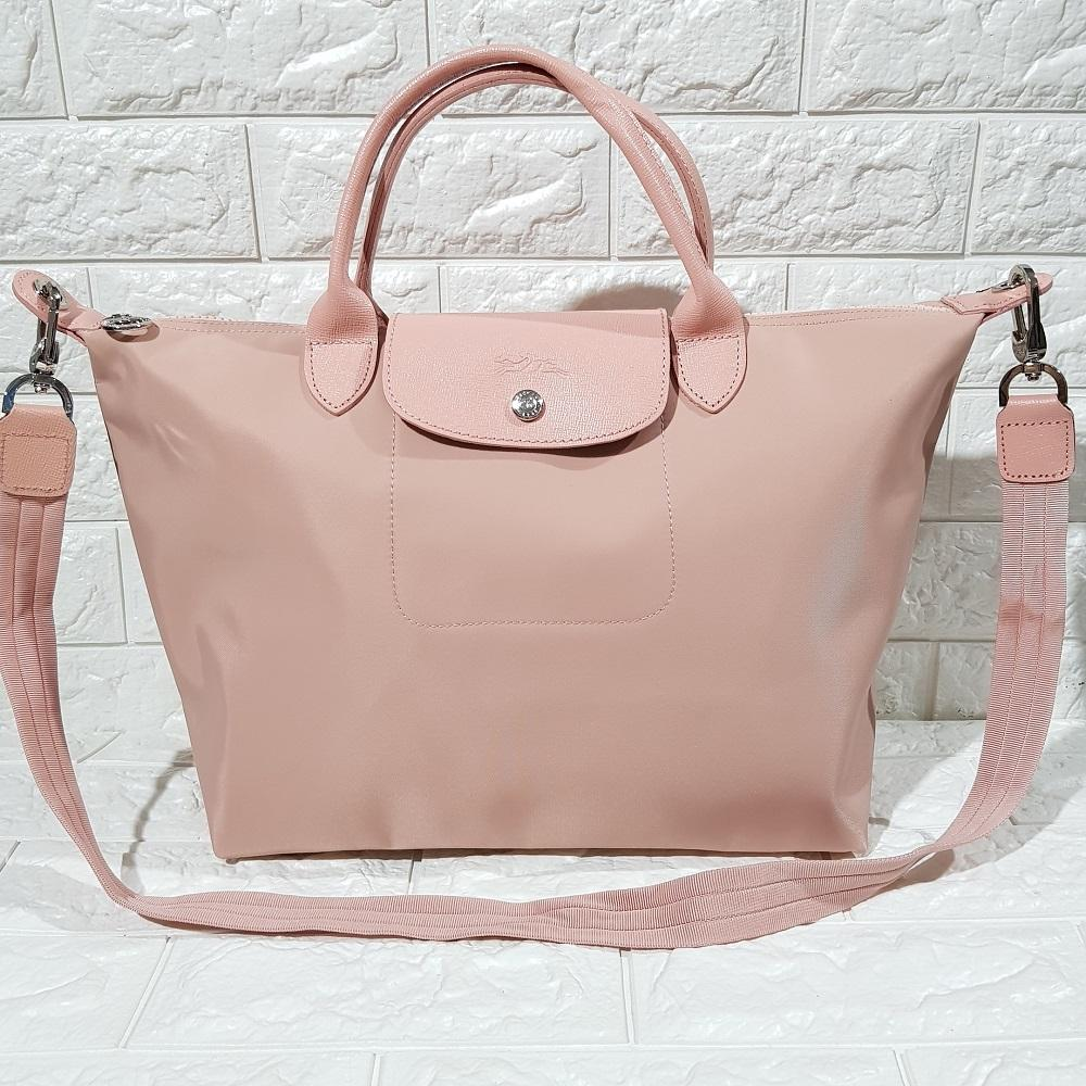 Longchamp Made In France Neo Medium Nude Pink Philippines Lc006 Le Pliage Large Long Handle Llh