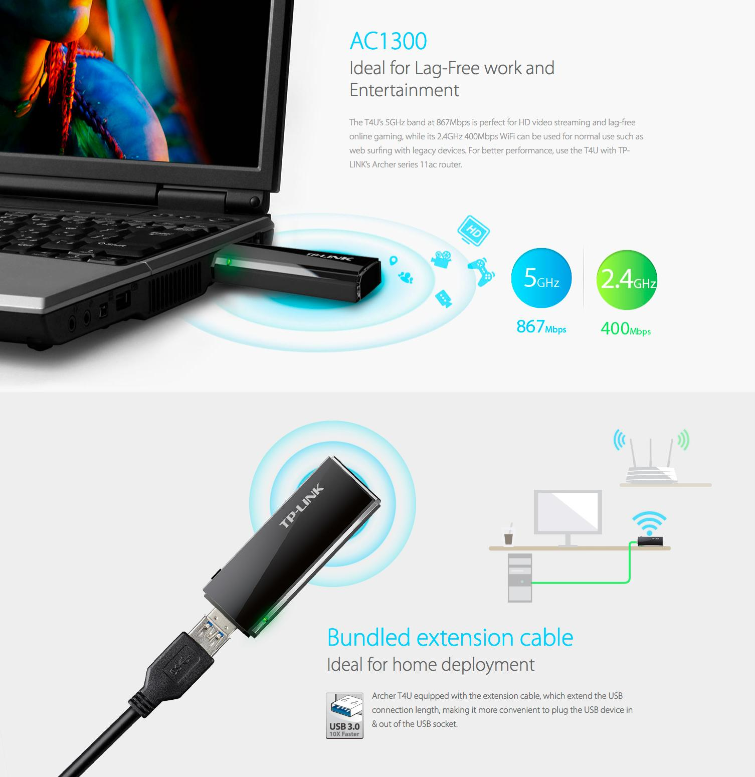 Archer T4U Wireless Dual Band USB Adapter price in Pakistan, TP ...