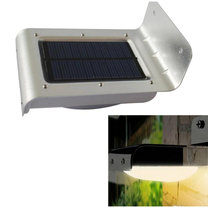 Metal 16 Super Bright LED Wireless Solar Powered Light For Outdoor With  Motion Sensor Solar Landscape