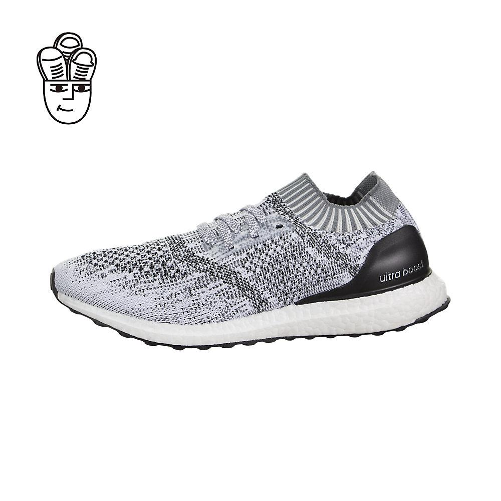 the adidas ultra boost uncaged is a streamlined version of the original. they have a primeknit mesh upper bootie like construction signature boost